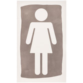 Women's Restroom Symbol Wood Wall Decor